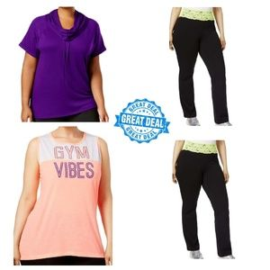 Lot of 4 Ideology & Material Girl Work Out Mix 3XL